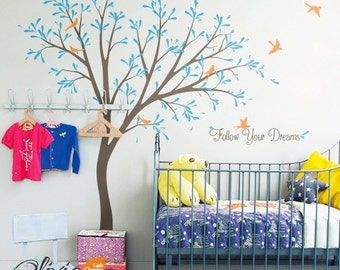 Baby nursery Large Tree vinyl wall decal, home decor sticker -NT003