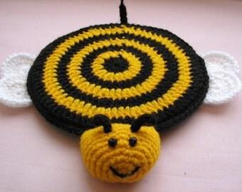 "Crochet animal coaster ""Pretty  bee"""