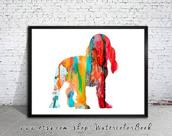 English Cocker Spaniel 3 Watercolor, Children's Wall Art, Cocker Spaniel watercolor, watercolor painting, dog art, dog watercolor, dog print