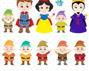 Princess Digital Clipart, Princess Clipart, Snow White Clipart