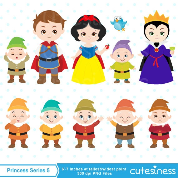 Princess Digital Clipart Snow White