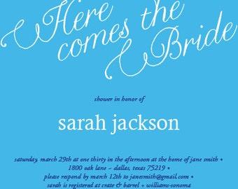 Whimsical Bridal Shower Invitation