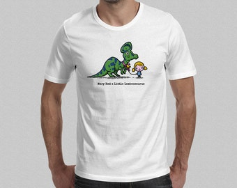 Mary Had a Little Lambeosaurus T-Shirt - Men's T-Shirt - Dinosaur T-Shirt S M L XL XXL