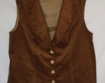 CARAMEL & CREAM Woman's Corduroy Vest