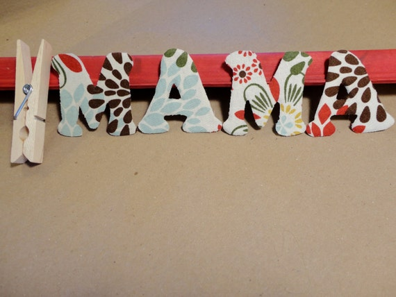 covering letters with scrapbook paper