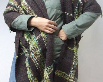 Woman poncho oversized poncho shawl woman coat handwoven wrap shawl maternity clothing wool poncho coat shawl shrug pure wool poncho sweater