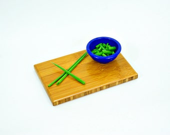 SALE! Small Carmelized Bamboo Cutting Board // natural living // green // organic