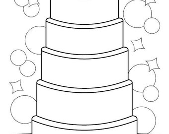Gallery For gt Decorate A Cake Coloring Page
