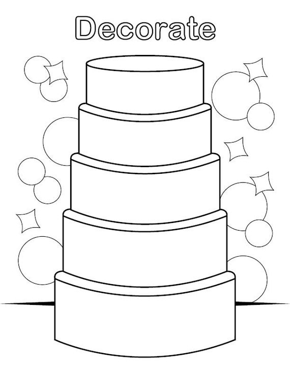wedding cake pictures to colour in decorate the cake coloring page 23444