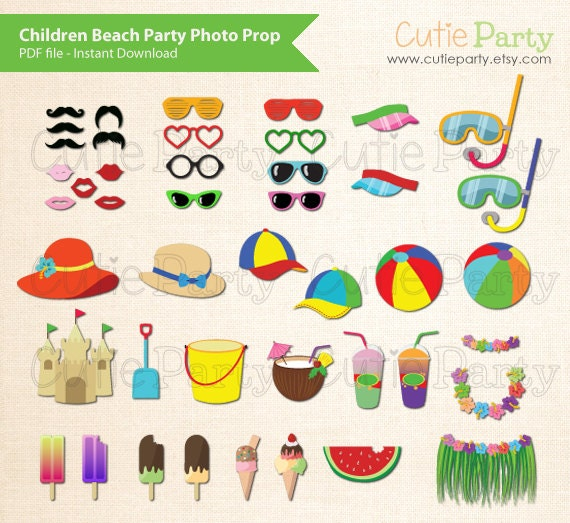 Party Photo Booth Props Printable Party Photo Booth Prop