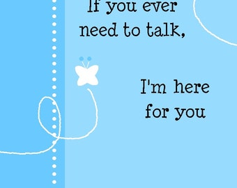 Thinking of You / Sympathy / Friendship  Greeting Card - Funny