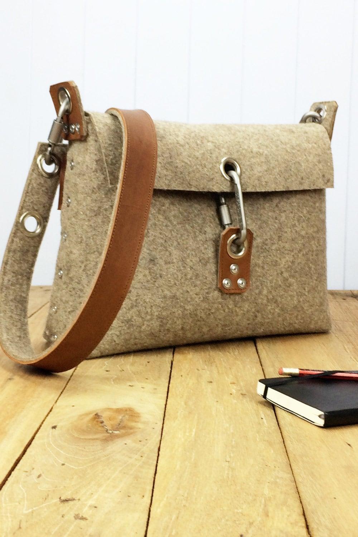 Womans Felt Handbag Felt Purse For Women Messenger Bag By