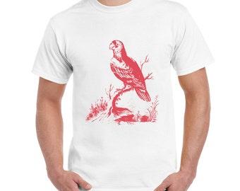 Parrot T Shirt, TShirt, Engraving, Bird, Lovebird, Macaw, Budgerigar,Parrot, Wild Life, Wings, Direct To Garment, Digital Printing,S-XL, DTG