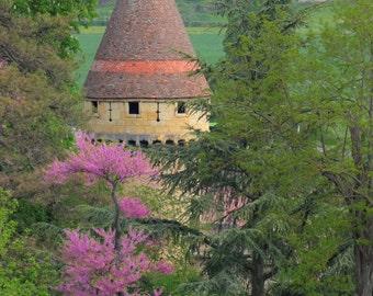 Medieval tower near Cluny, France
