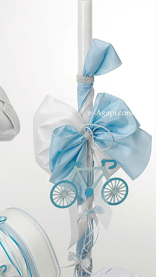 Lampada Bicycle Greek baptism candles Orthodox christening