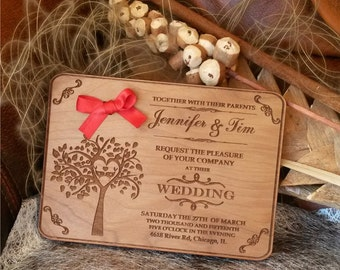 engraved wood wedding invitation 30 rustic wedding invitations handmade wedding invitation - Wood Wedding Invitations