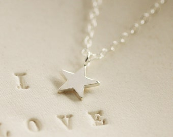 Tiny Star Necklace - Sterling Silver Star Charm