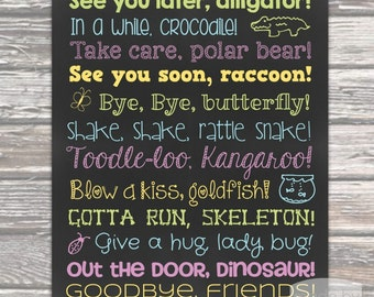 See You Later Alligator 16x20 Poster