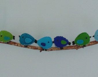 handmade mobile 'little birds'