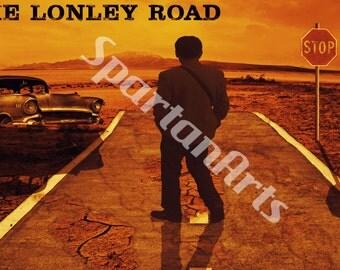A Desert Walk: The Lonley Road Poster