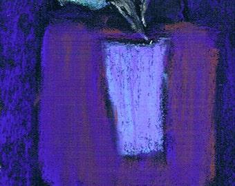 "Original Art - ""Flattened"" - Flowers - Pastel - Miniature"