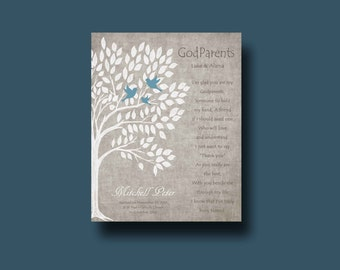 GODPARENTS gift - Personalized gift for Godparents - Gift from Godchild - Personalized gift for Godfather and Godmother, Godfather Keepsake