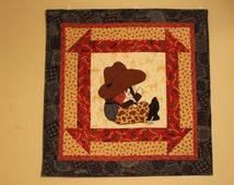 cowboy baby quilt pattern Lil Dude western decor