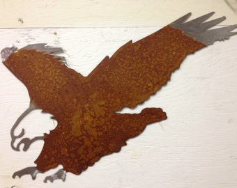 Metal Bald Eagle Silhouette