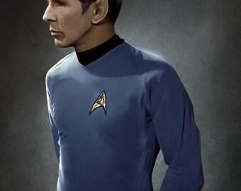 Original Series Spock Painting Print