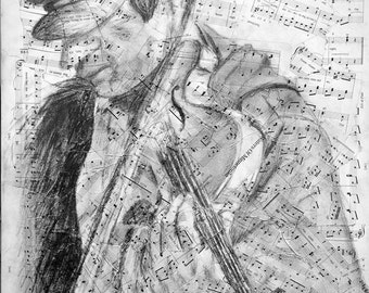 """The Fiddler 18""""x24"""" Signed Print"""