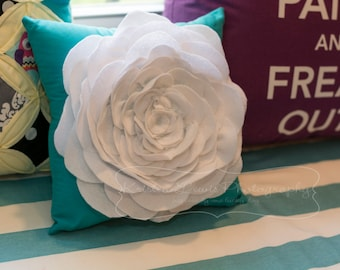 Custom Colors Flower Petal Pillow