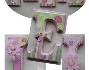 Decorative letters, wall letters, children's room decor, personalized gift