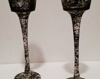 Tall Spiderweb Candleholder