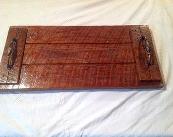 Reclaimed Wood Ottaman Serving Tray