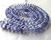 AAA Iolite Faceted Rondelle Gemstone Beads 5mm - 10 Bead Packet