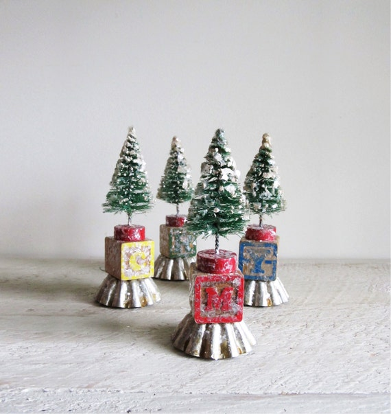 Christmas Tree Ornaments Etsy: Bottle Brush Christmas Tree Ornament
