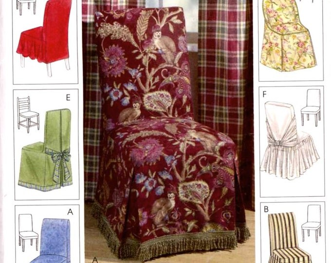 Decor chair covers home decor sewing pattern McCalls 4404 0r 883 home decorating Dining decor Uncut