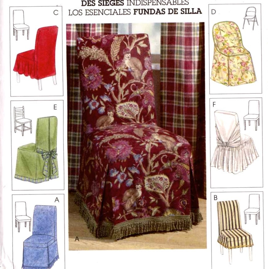 Home Decor Patterns: Decor Chair Covers Home Decor Sewing Pattern McCalls 4404 0r