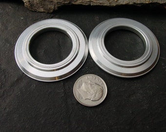 Jewelry Supplies. Steampunk. Lg Beveled Rings. Recycled Aluminum Computer Parts. 1 3/4 in. RC-18