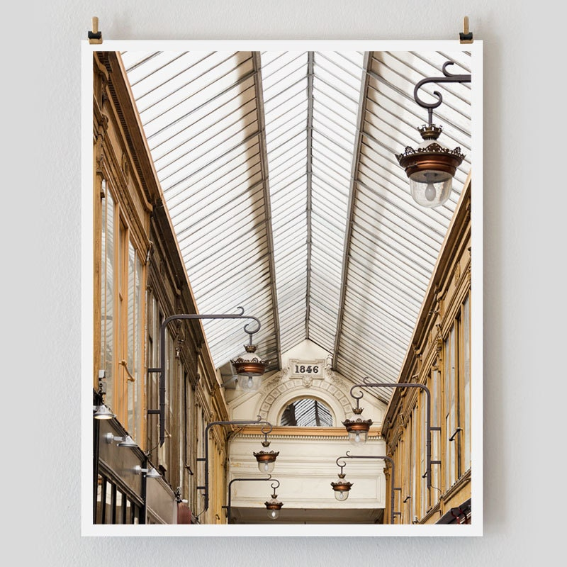 "Paris Photography, ""Jouffroy"" Paris Print Extra Large Wall Art Prints, Paris Wall Decor"