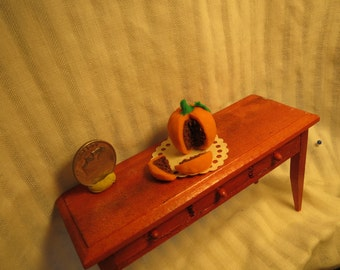 Pumpkin Cake for Dollhouse 1 Inch Scale Miniature