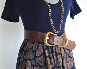Vintage 80's paisley print skirt Liz Claiborne