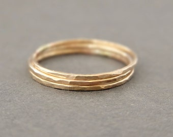 Midi Rings gold ring stacking ring Tiny Gold Knuckle Rings - 14 k Gold Filled Jewelry - super thin rings toe rings childs ring