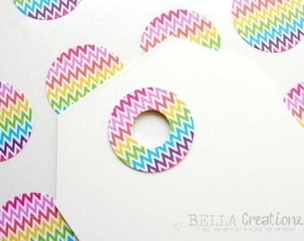 Rainbow Chevron Reinforcement Stickers