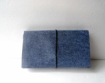 Billy Jean Coupon Organizer  Accordion File Book Denim Blue Jean