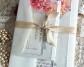 Vintage Romantic Wedding Invitation with Tulips/Flowers SAMPLE Handmade by avintageobsession on etsy