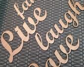 Custom Wood Cut Words and Names