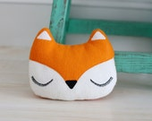 Fox Cushion - Woodland Decoration - Fox Plush - Nursery Decor - Woodland Fox Decor - Fox Gifts - Fox Decor - New Baby Gift - Christmas Gift