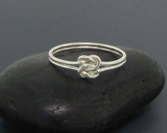 Love knot ring or infinity ring for her, perfect as a promise ring, a purity ring or a friendship ring, even an alternative engagement ring