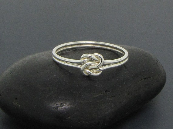 Purity ring, double love knot ring, sailor ring, sterling silver ring, love ring, commitment ring, engagement ring